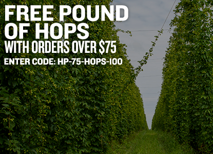 Free Pound of Hops with Orders Over $75