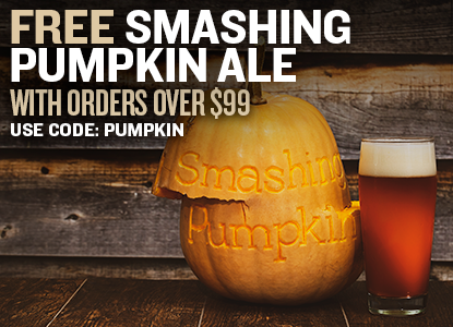 Free Smashing Pumpkin Beer Recipe Kit with orders over $99