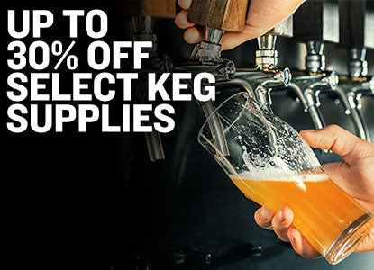 Up to 30% Off Select Keg Supplies