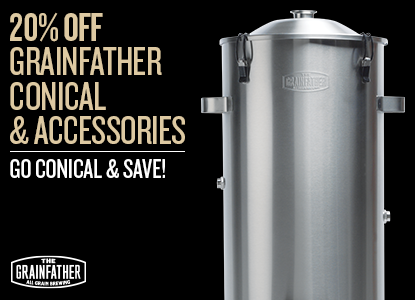 20% Off Grainfather Conical and Accessories