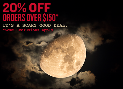 20% Off Orders Over $150. Use code SPOOKY at checkout.
