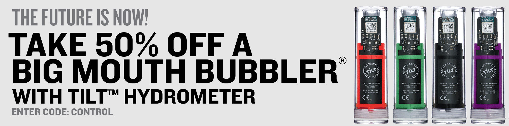 50% Off A Big Mouth Bubbler Fermenter With Purchase of Tilt Hydrometer