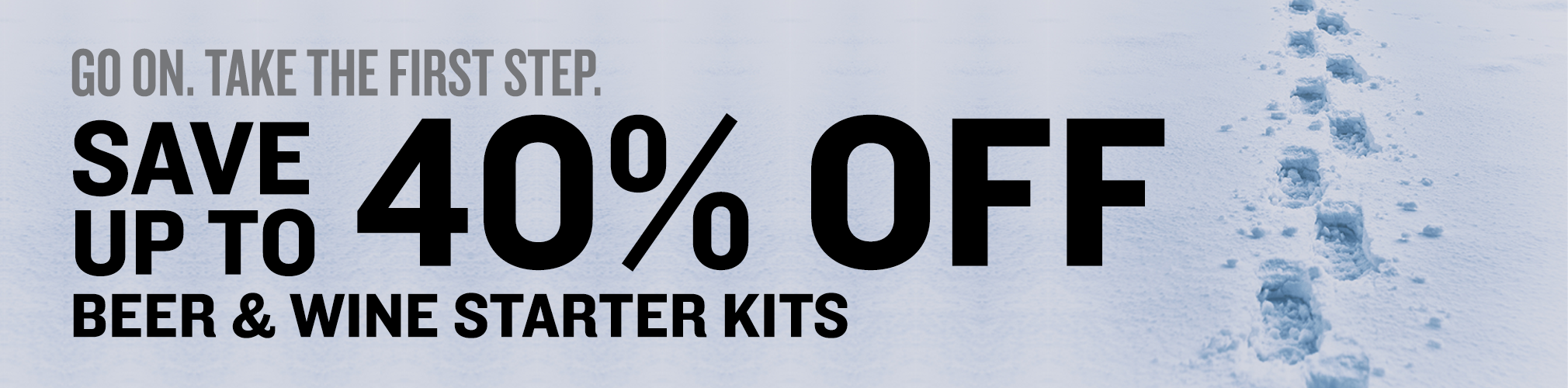 Save up to 40% On Select Beer and Wine Starter Kits
