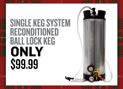 Single Keg System with Reconditioned Ball Lock Keg Only $99.99