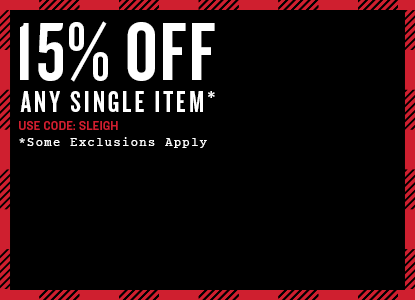 Save 15% Off Any Single. Promo Code: SLEIGH