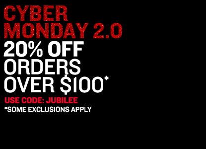 20% Off Orders Over $100. Use Code: JUBILEE