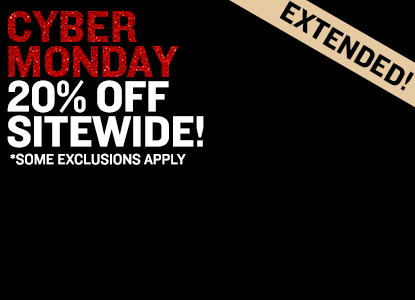 Cyber Monday Extended - 20% Off Sitewide