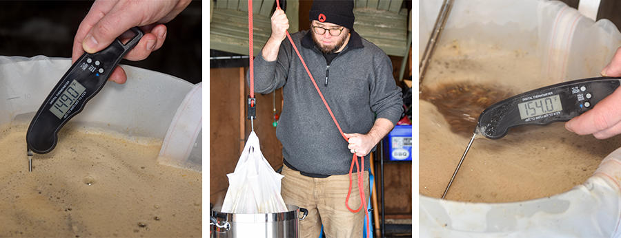 How to Brew in a Bag Thermometer