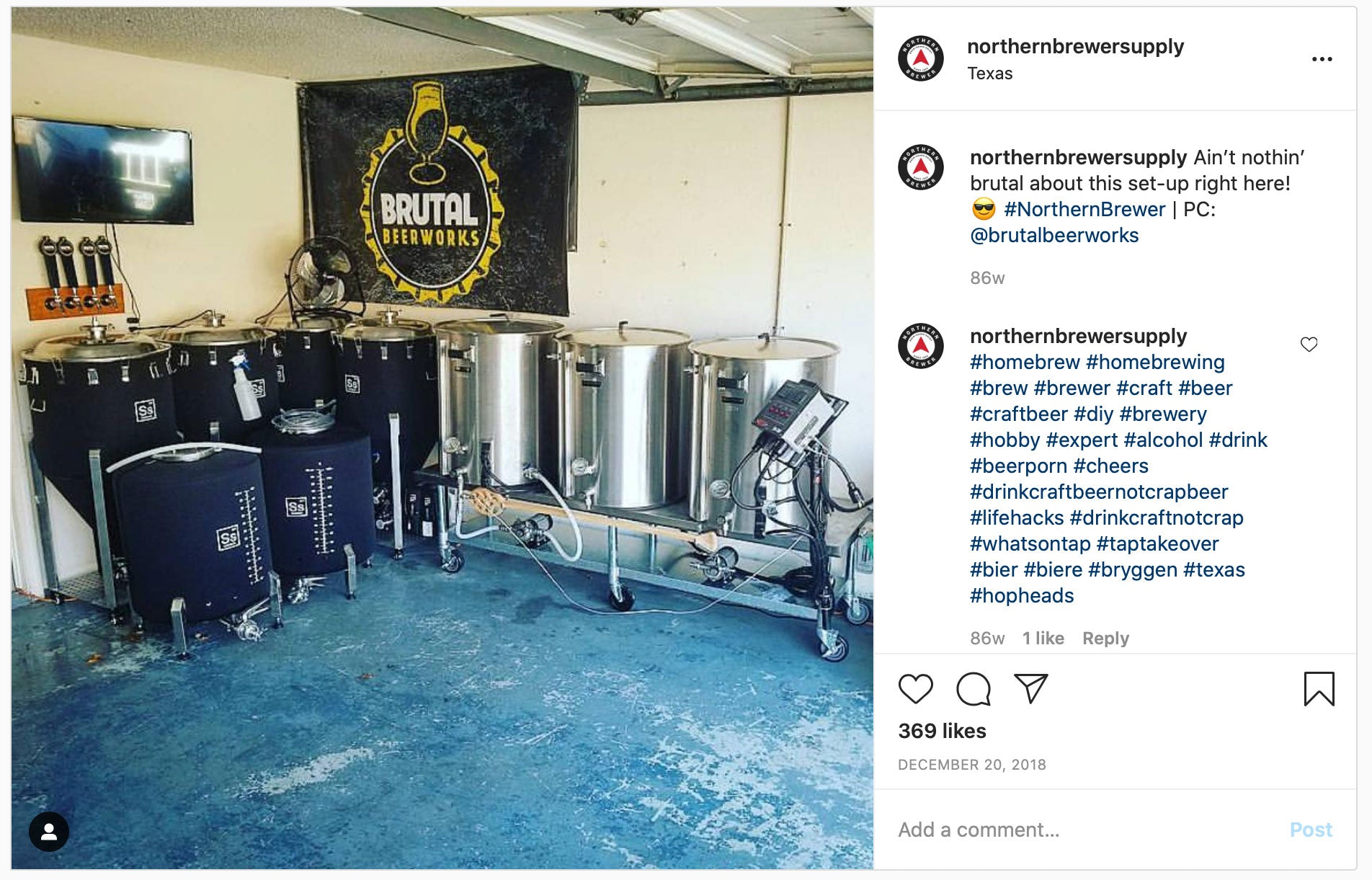 Northern Brewer Brew Cave Set Up