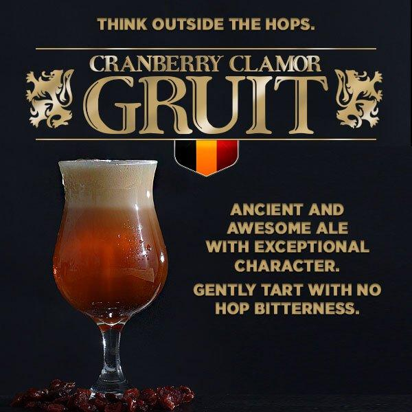 Cranberry Clamor Gruit Extract Beer Recipe Kit
