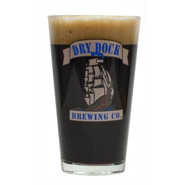 Dry Dock glass filled with Urca Vanilla Porter Pro Series homebrew