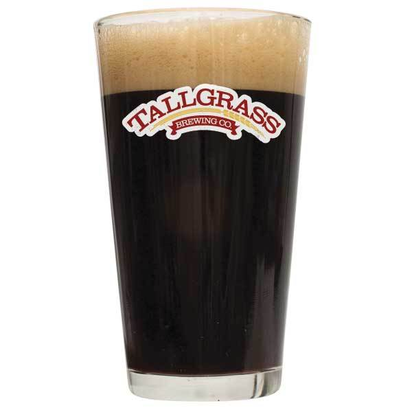 Tallgrass Buffalo Sweat Stout Pro Series homebrew in a glass