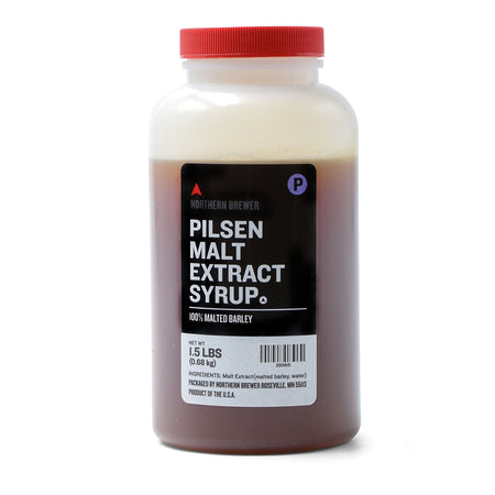 1.5 Lbs. Briess Pilsen Malt Extract Syrup (LME).
