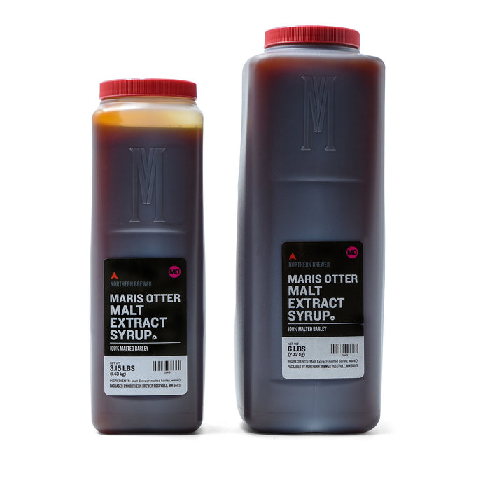 3.15 pound and 6 pound containers of Briess Maris Otter Malt Extract Syrup