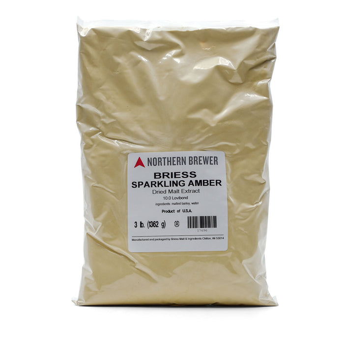 Sparkling Amber DME - Dry Malt Extract in a three-pound bag