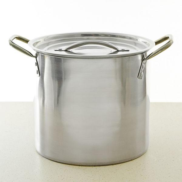 Two-Gallon Stainless steel Kettle with a Lid.