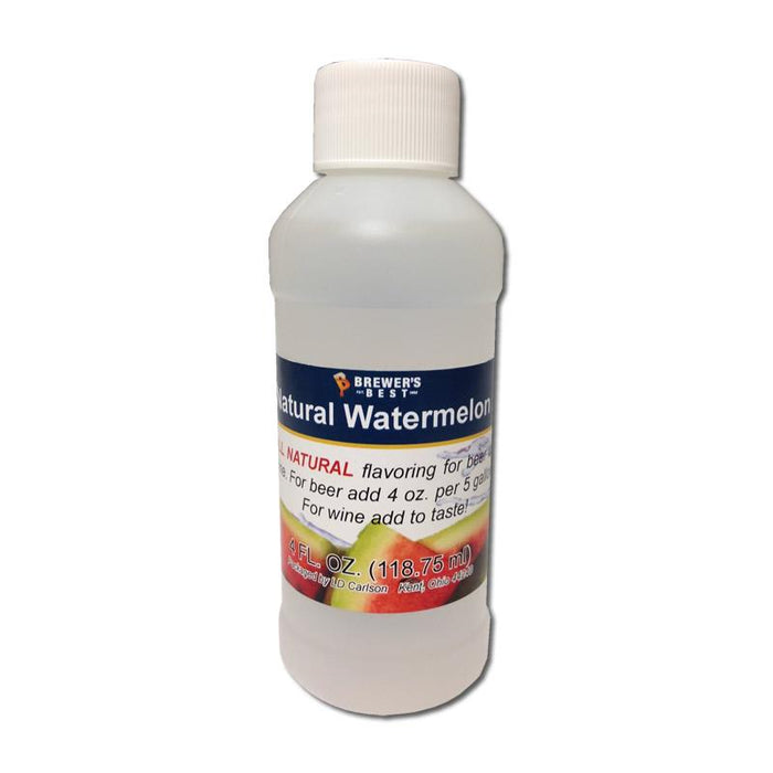 Natural Watermelon Flavor Extract in a 4-ounce bottle