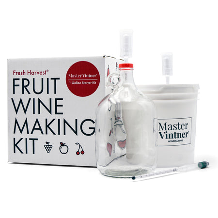 Master Vintner® Fresh Harvest® 1-Gallon Fruit Winemaking Kit Contents