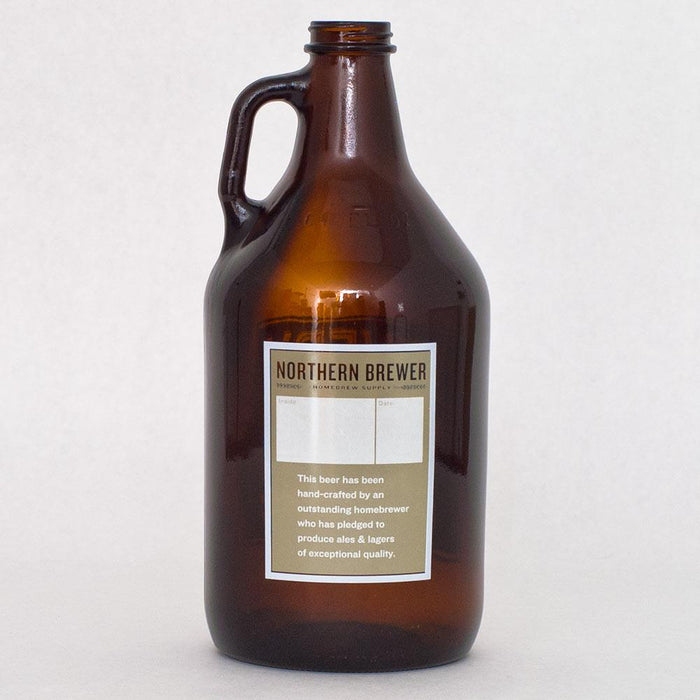 The back side of the Every Ounce Counts 64-ounce growler