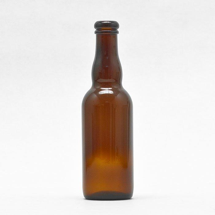 Brown 375 ml Belgian-style Beer Bottle intended for use with a belgian cork