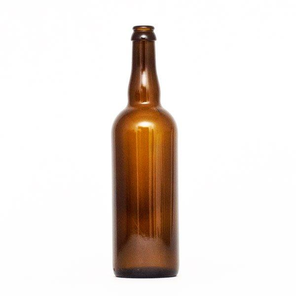 750 ml Belgian-style Beer Bottles - Crown Finish - Case of 12