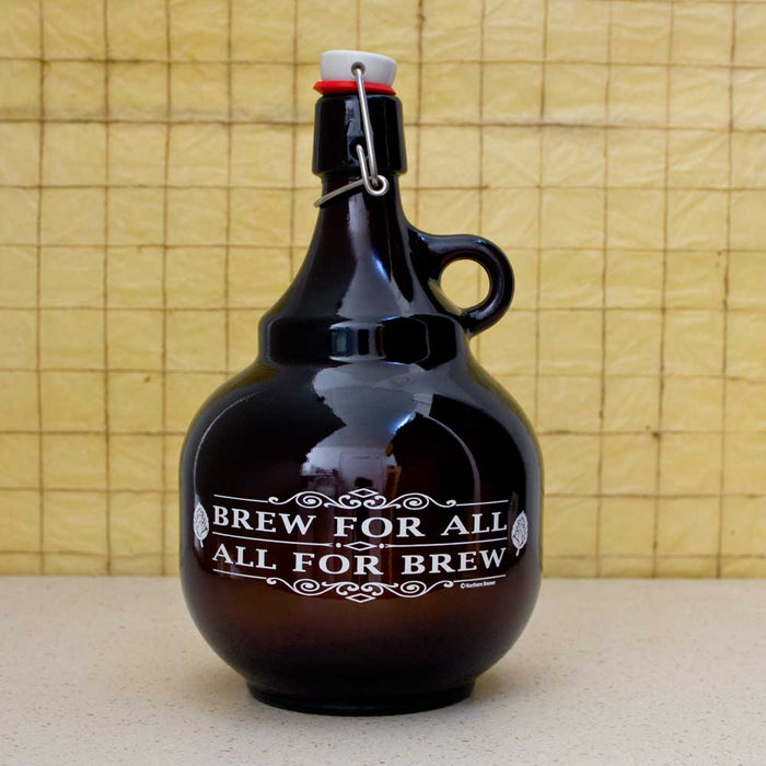 Brew For All 2L Palla Growler With Swing-top Closed
