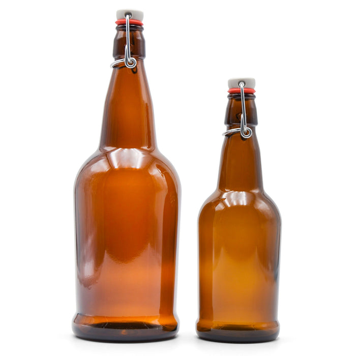 16-ounce and 32-ounce EZ cap bottles side by side with lids closed.