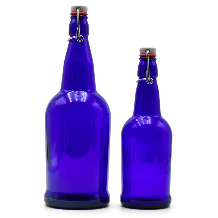 16-ounce and 32-ounce EZ cap bottles side by side closed