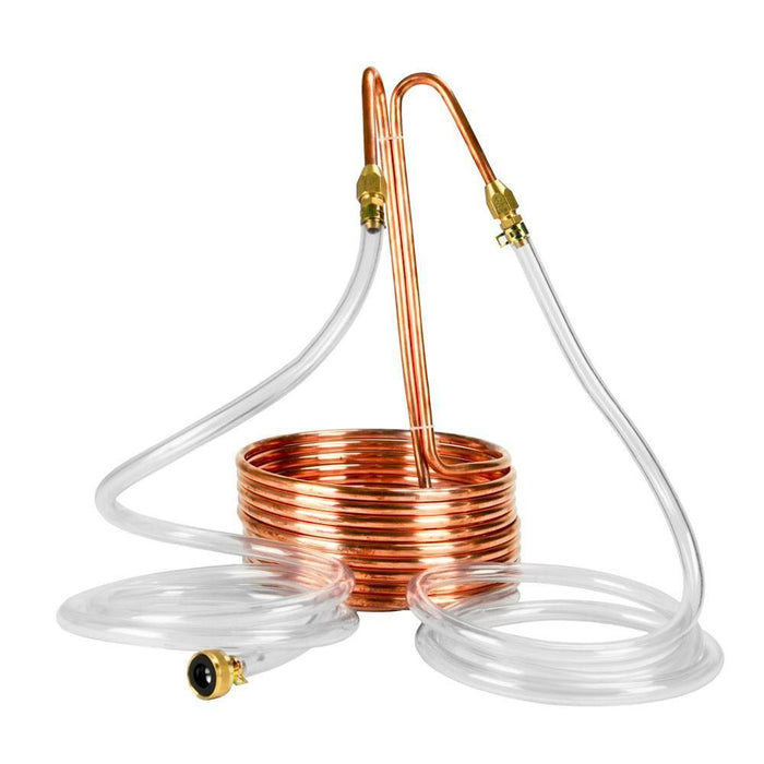 Copperhead® Immersion Wort Chiller with liquid lines attached
