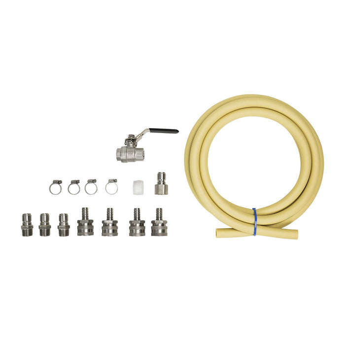 The contents of the Transfer Quick Pump Connector Kit