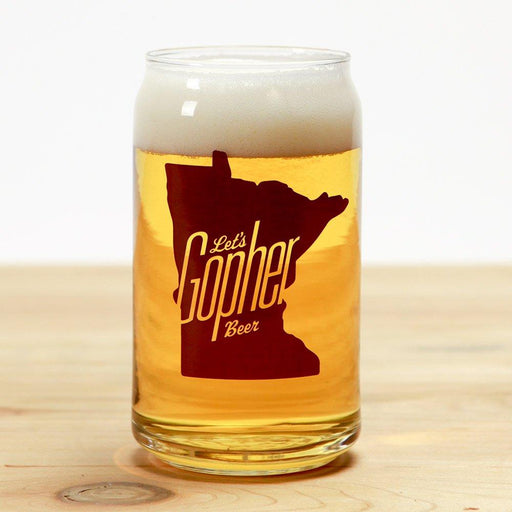 Let Gopher Beer Can Glass