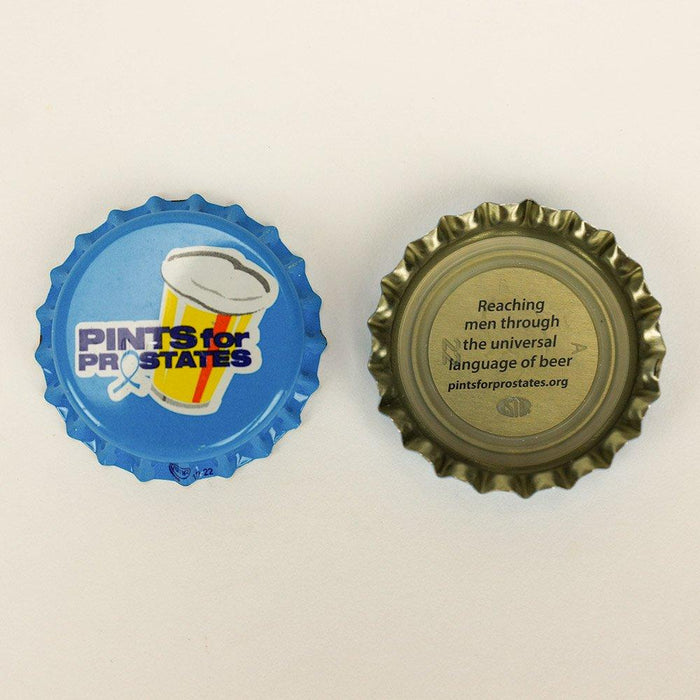 Two Pints for Prostates Oxy Scavenger Bottle Caps - one face up, one face down