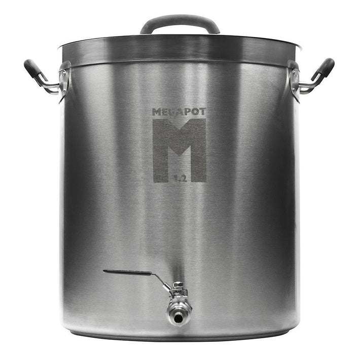 Fifteen gallon megapot brew kettle with a valve