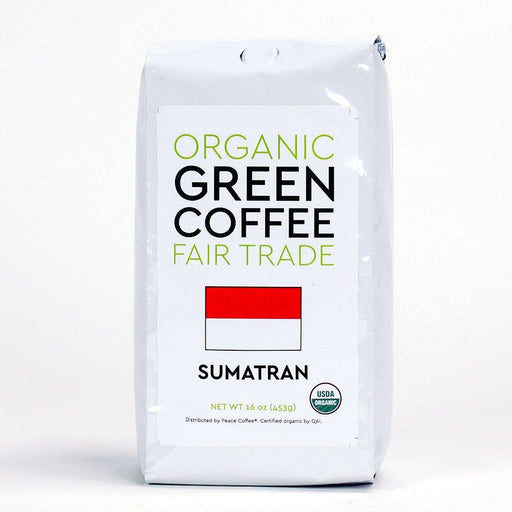 Peace Coffee Sumatra Gayo Fair Trade Organic Green Coffee Beans - 16oz