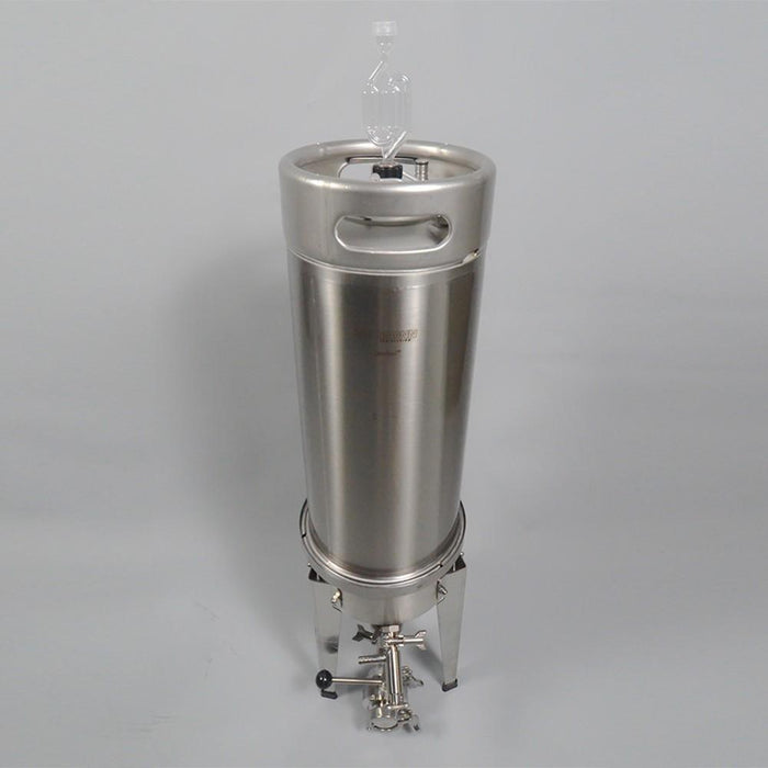 High-angle view of the Blichmann Cornical Keg & Fermentor
