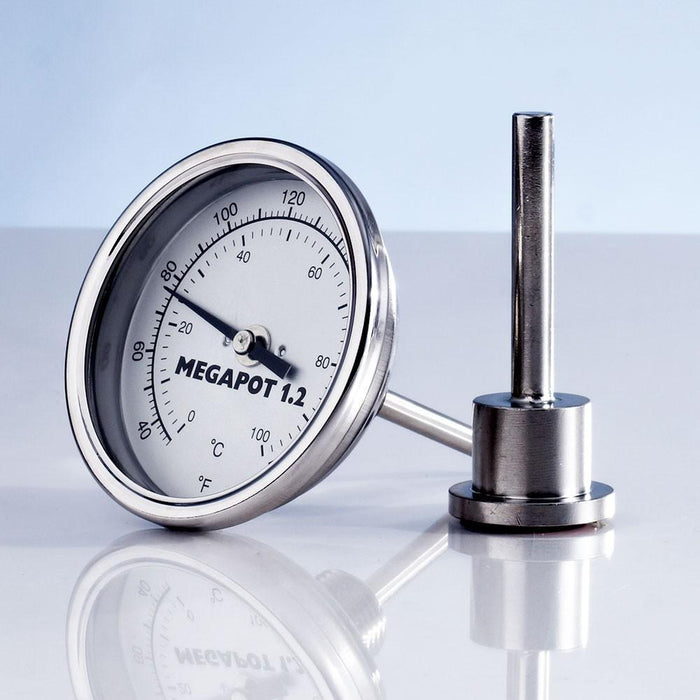 MegaPot Dial Thermometer Side