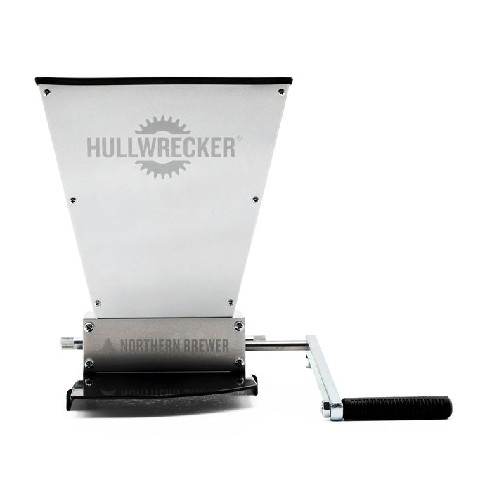 The Hullwrecker 2-roller Grain Mill with Base connected
