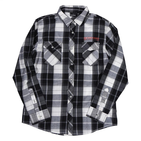 Northern Brewer NB Black White Plaid Shirt Front