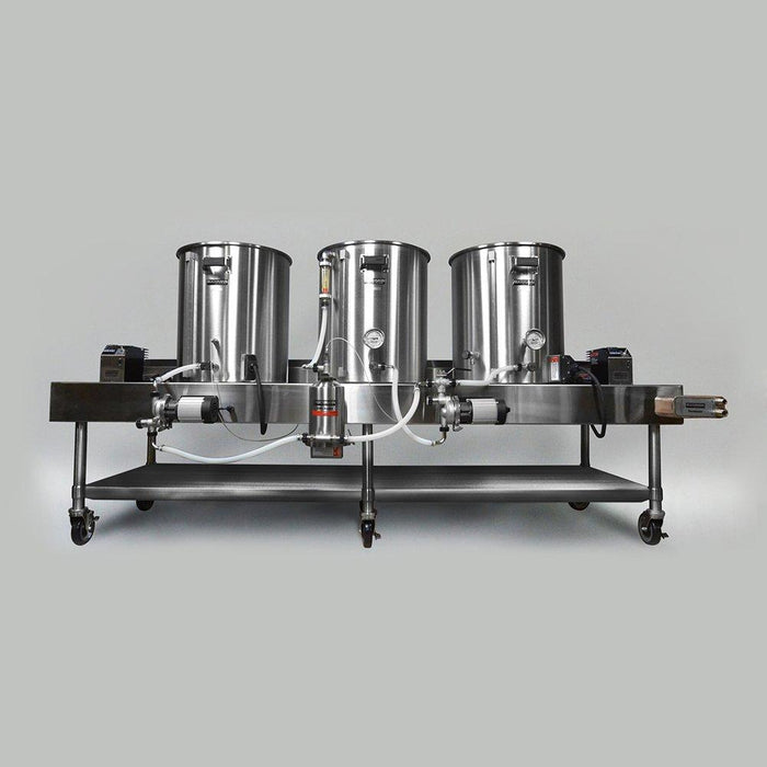 The five to twenty Gallon Blichmann Batch Electric Horizontal Brewing System