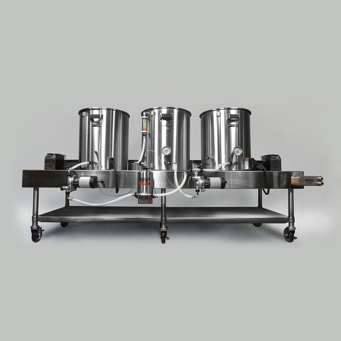 The set up Blichmann Complete Electric HERMS Horizontal Brewing System