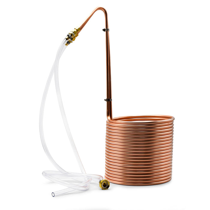 Copperhead® Wort Chiller with attached beverage line