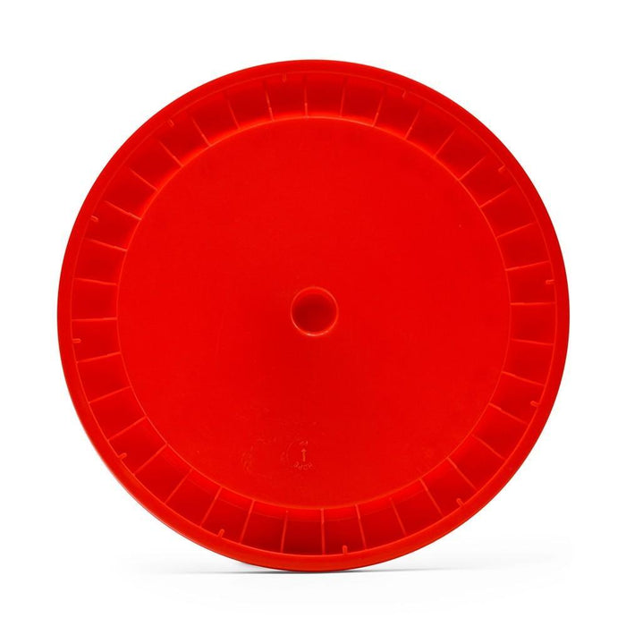 Undrilled Lid for 6.5 Gal - Red
