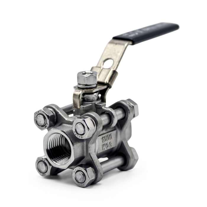 316 stainless steel 3 Piece half inch NPT Ball Valve