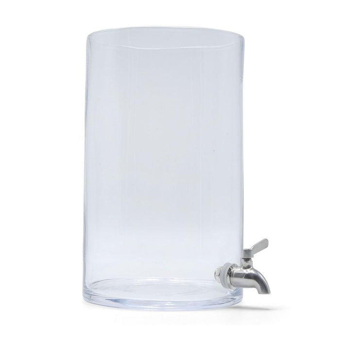 Glass Kombucha Fermenting Vessel with Stainless Steel Spigot facing right