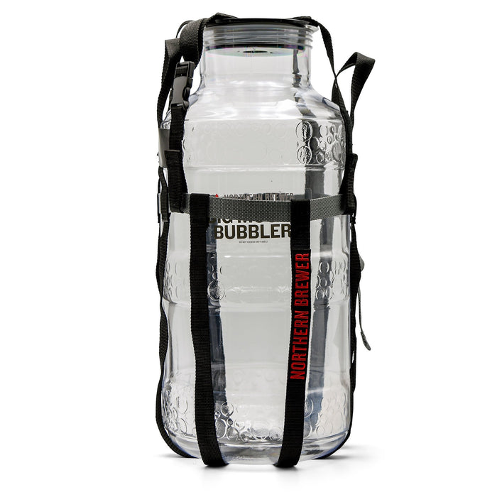 6 Gallon Plastic Big Mouth Bubbler Fermentor in a carrying Harness