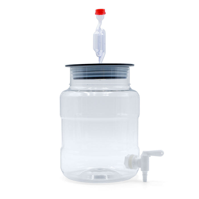 Side view of the one-gallon Siphonless Little Big Mouth Bubbler with airlock