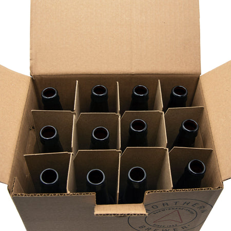 Interior view of 12 bottles in the box
