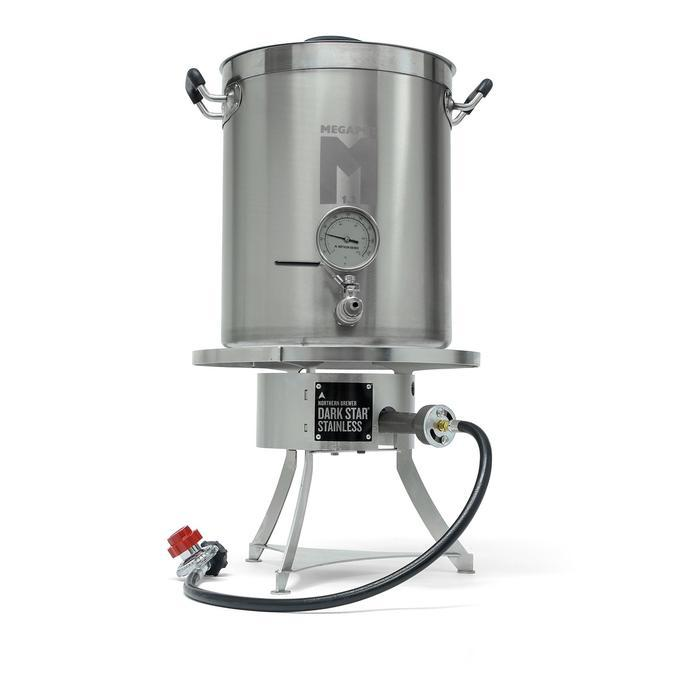 Premium Raise Your Game Kit - Stainless Brew Kettle & Burner, Ball Valve, Thermometer