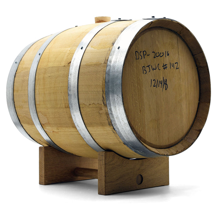 Brother Justus Whiskey Barrel with Barrel Cradle
