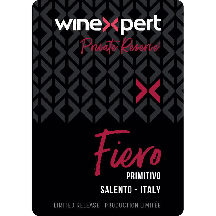 Fiero - Primitivo Style Wine Kit - Winexpert Private Reserve Limited Edition Label